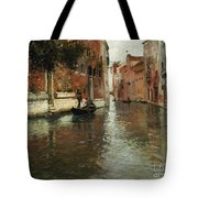 A Venetian Backwater  Tote Bag by Fritz Thaulow