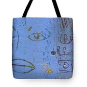 A Very Blue Lady Tote Bag