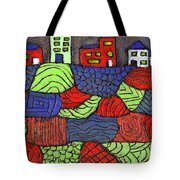 A Very Colorful Neighborhood Tote Bag