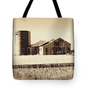 A Very Old Barn And Silo Tote Bag
