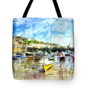 Porthleven - A View Across The Harbour Tote Bag