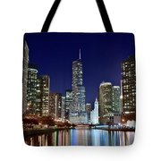 A View Down The Chicago River Tote Bag