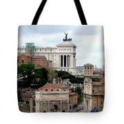 A View From Palatine Hill In Rome Italy Tote Bag