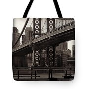 A View From The Bridge - Manhattan Bridge New York Tote Bag