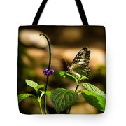 A  View Of A Butterfly Tote Bag