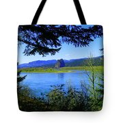 A View Of Beacon Rock Tote Bag