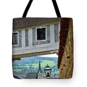 A View Of Cesky Krumlov In The Czech Republic Tote Bag