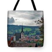 A View Of Cesky Krumlov  Tote Bag