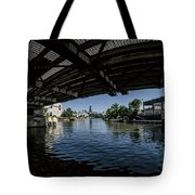 A View Of Chicago From Under The Division Street Bridge Tote Bag