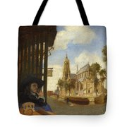 A View Of Delft With A Musical Instrument Seller's Stall Tote Bag