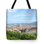 A View Of Florence Tote Bag