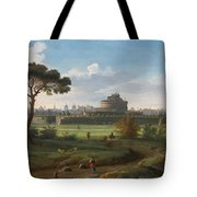 A View Of The Castel Sant'angelo Tote Bag
