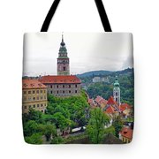 A View Of The Cesky Kromluv Castle Complex In The Czech Republic Tote Bag