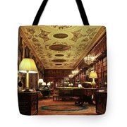 A View Of The Chatsworth House Library, England Tote Bag