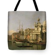 A View Of The Dogana And Santa Maria Della Salute Tote Bag by Antonio Canaletto