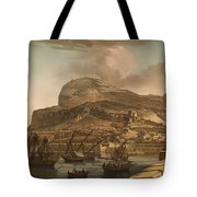A View Of The Rock Of Gibraltar From The Spanish Lines 1782 Tote Bag