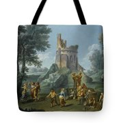 A View Of The Sedia Del Diavolo With Peasants  Tote Bag