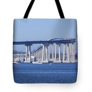 A View Of The South End Of The San Diego-coronado Bridge Tote Bag