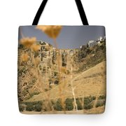 A View Of The Tajo De Ronda And Puente Nuevo Bridge Serrania De Ronda Andalucia Spain Tote Bag