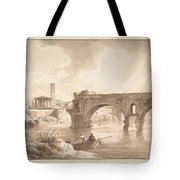A View Of The Tiber From The North Bank Tote Bag