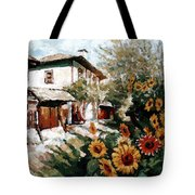 A Village In Summer Tote Bag
