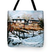 A Village In Winter Tote Bag