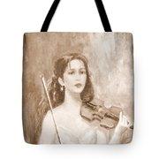 A Violin Girl Tote Bag