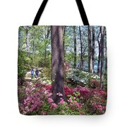 A Walk Among The Azaleas Tote Bag