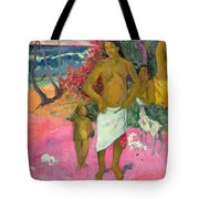 A Walk By The Sea Tote Bag by Paul Gauguin