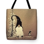 A Walk In The Snow Tote Bag by Ginny Youngblood