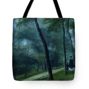 A Walk In The Woods Madame Lecoeur And Her Children 1870 Tote Bag