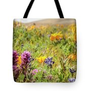 A Walk Though The Poppy Fields Tote Bag