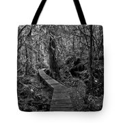 A Walk Through The Willowbrae Rainforest Black And White Tote Bag