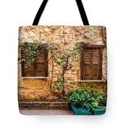 A Wall In Chania Tote Bag