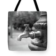 A Water Tap In The Park Tote Bag