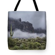 A Wave Of Fog On The Superstitions  Tote Bag