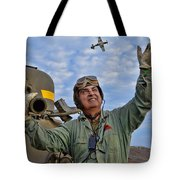 A Wave To A Friend Tote Bag