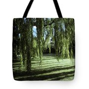 A Weeping Willow Casts Long, Cool Tote Bag