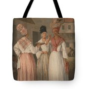 A West Indian Flower Girl And Two Other Free Women Of Color Tote Bag
