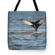 A Whale Of A Tail Bar Harbor Tote Bag
