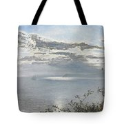 A White Calm After Thunder Showers Tote Bag
