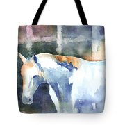 A White Horse Tote Bag