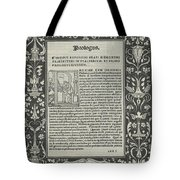 """A White Line Border With Two Cartouches: """"a Satyr Sacrificing A Ram,"""" And """"the Choice Of Hercules"""" Tote Bag"""