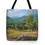 A  White Mountain View Tote Bag