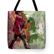 A White Rose For A Ballerina Tote Bag