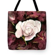 A White Rose Tote Bag