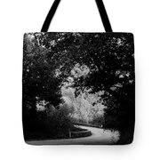 A Winding Road Bw Tote Bag