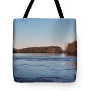 A Windswept River In March Tote Bag