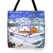 A Winter Evening Tote Bag