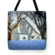 A Winter Holiday At The Farm Tote Bag